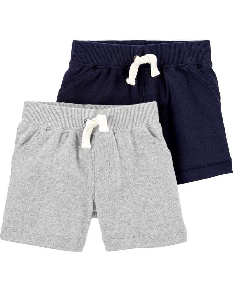 CARTER'S Nohavice krátke chlapec LBB 2ks 12m