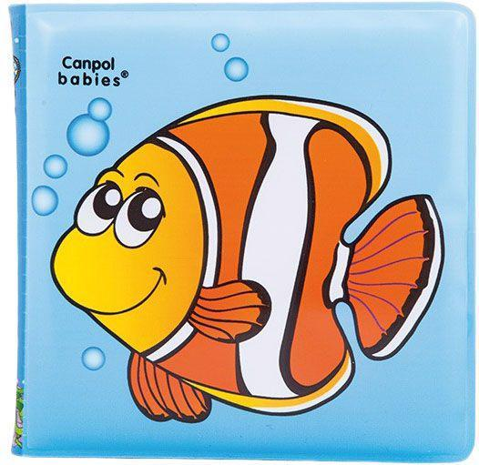 CANPOL BABIES Mäkká knižka pískacia - ryba