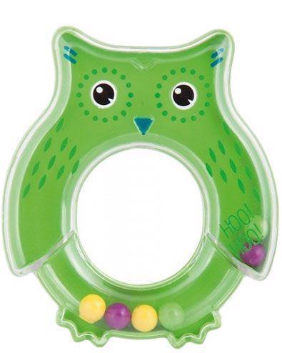 CANPOL BABIES Hrkálka sova - zelená