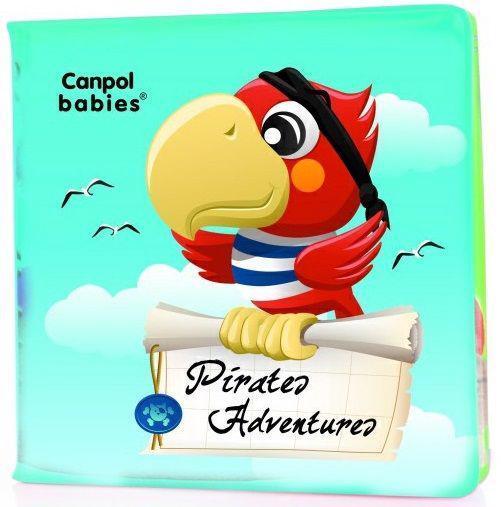 CANPOL BABIES Mäkká knižka pískacia – piráti