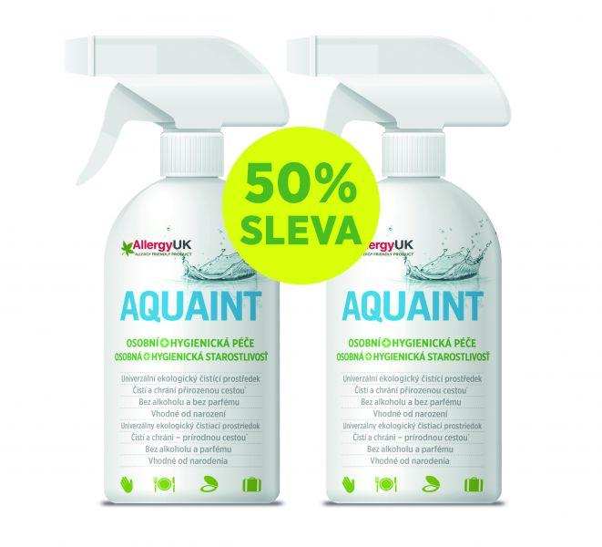 AQUAINT 100% ekologická čistiaca voda 500 ml + 500 ml gratis