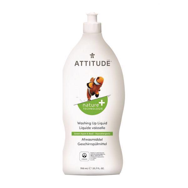 ATTITUDE Prípravok na umývanie riadu s vôňou zeleného jablka a bazalky, 700 ml