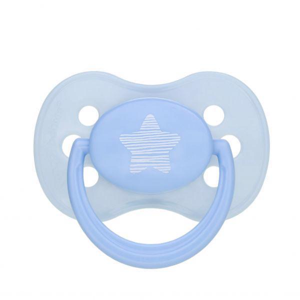 CANPOL BABIES Cumlík kaučukový čerešnička 0-6m Pastels - modrá