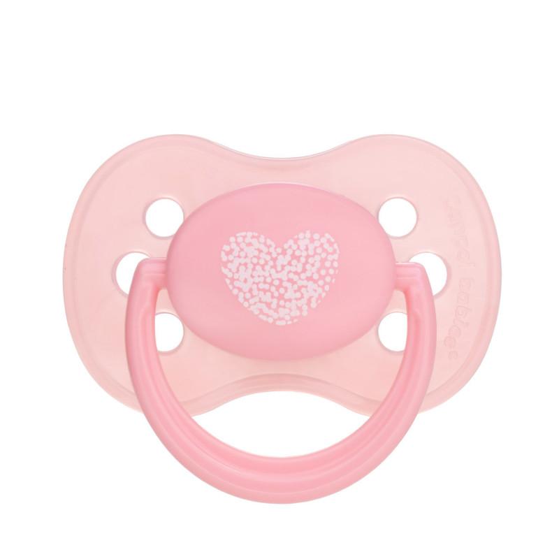 CANPOL BABIES Cumlík kaučukový čerešňa 0-6 m Pastels - ružový