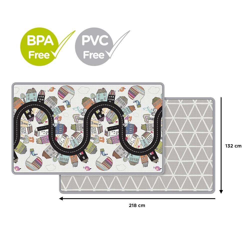 SKIP HOP Podložka na hranie bez PVC a BPA  218x132cm Vibrant Village 0m+