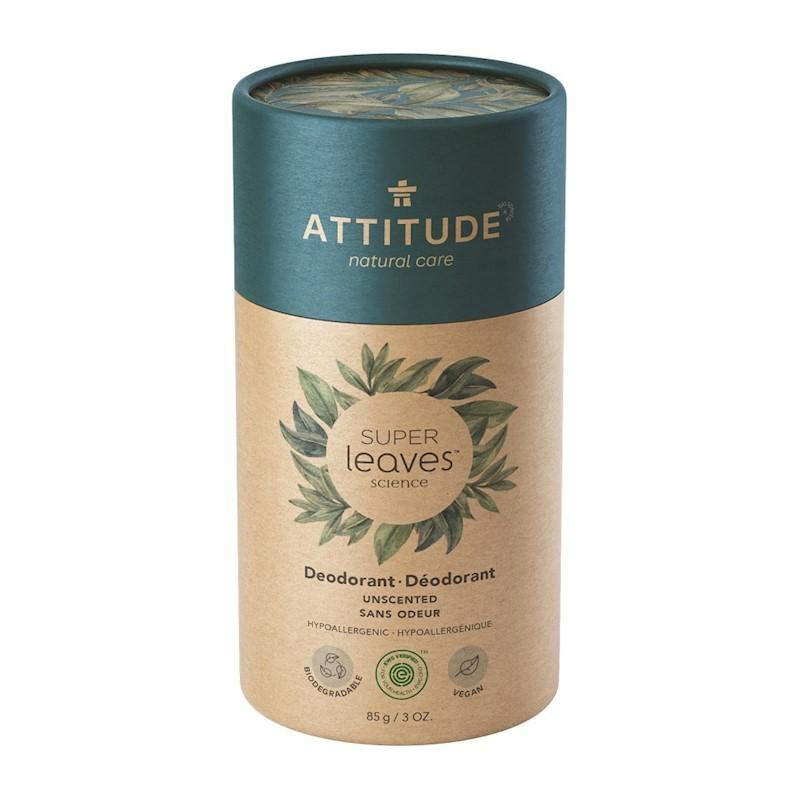 ATTITUDE Prírodný tuhý deodorant Super leaves - bez vône 85 g
