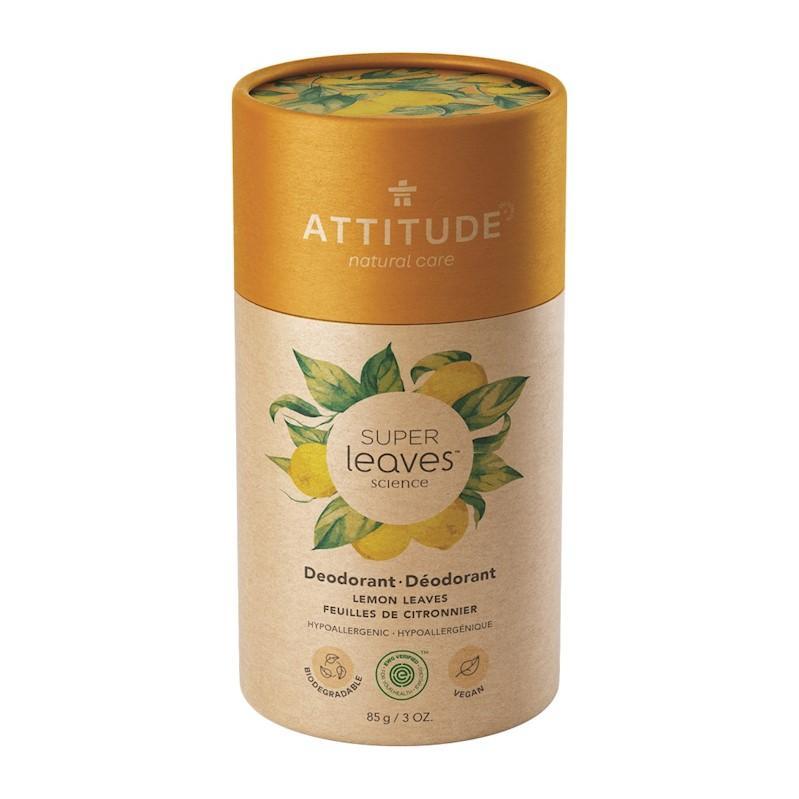 ATTITUDE Prírodný tuhý deodorant Super leaves - citrusové listy 85 g
