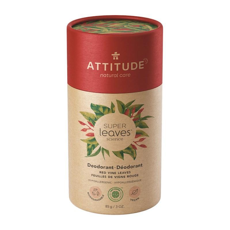 ATTITUDE Prírodný tuhý deodorant Super leaves - červené listy viniča 85 g