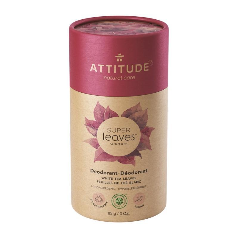 ATTITUDE Prírodný tuhý deodorant Super leaves - listy bieleho čaju 85 g