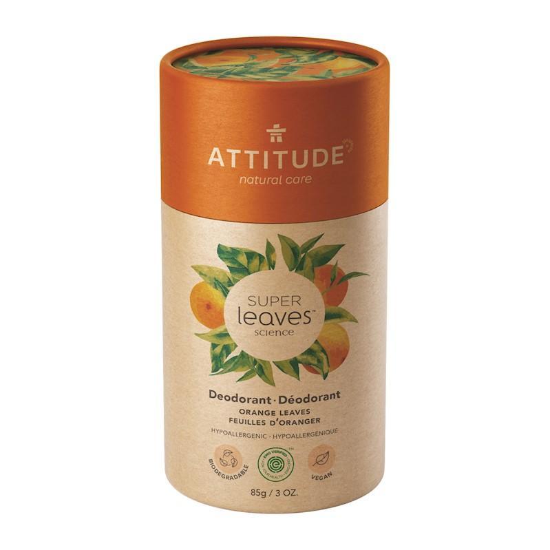ATTITUDE Prírodný tuhý deodorant Super leaves - pomarančové listy 85 g