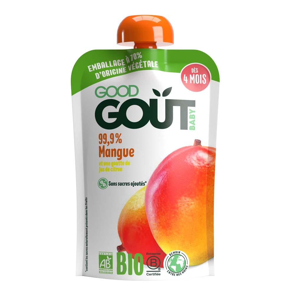 GOOD GOUT BIO Ovocné pyré bez lepku Mango 120 g – ovocný príkrm