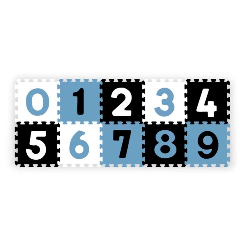 BABYONO Puzzle penové číslice 10ks, 6m+
