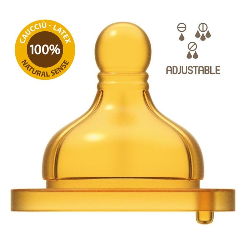 CHICCO Cumlík na fľašu Original Touch latex, variabilný 2 ks