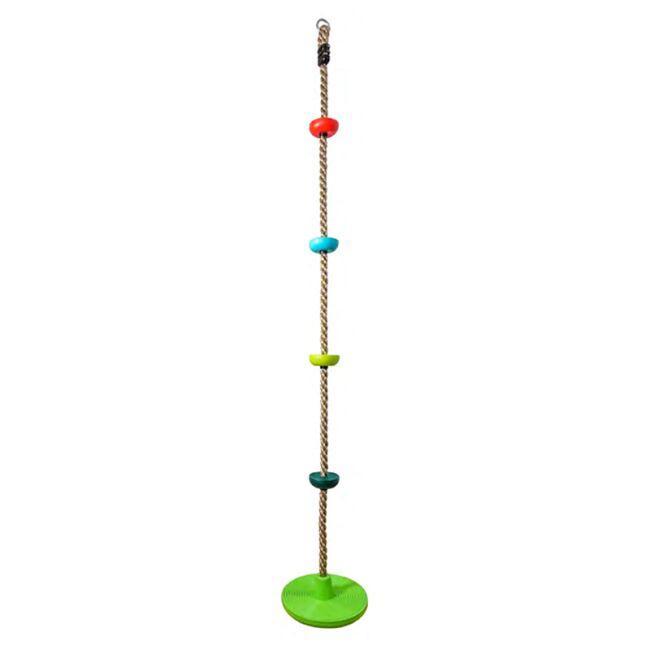 DVĚ DĚTI Detské šplhacie lano s diskami farebné