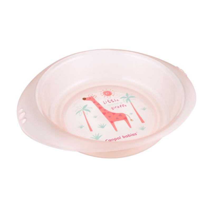 CANPOL BABIES Plastová miska AFRIKA 320 ml - ružová