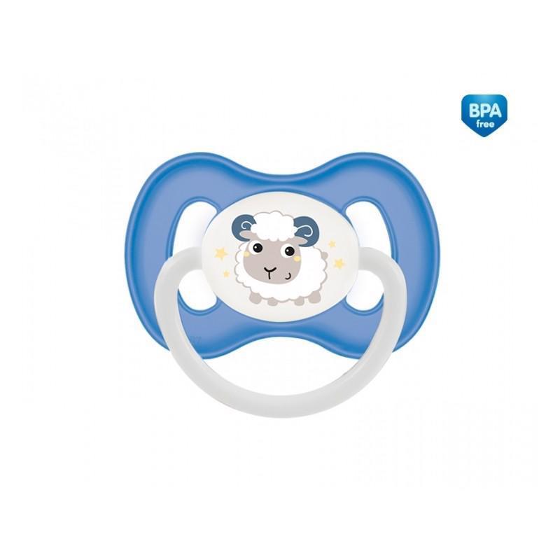 CANPOL BABIES B - Cumlík kaučuk čerešnička 6-18m Bunny&Company - modrá