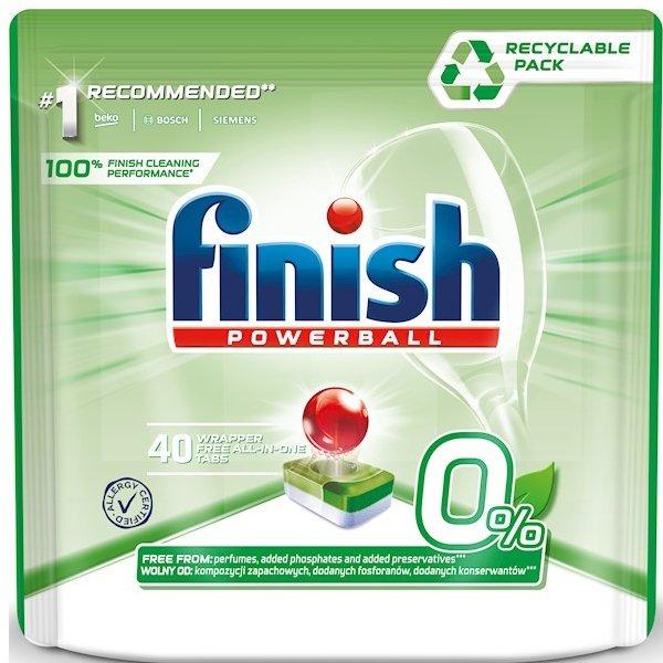 FINISH 0% tablety do umývačky riadu 40 ks