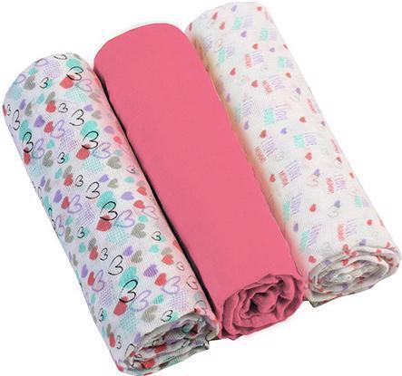BABYONO Plienky mušelínové Super soft 3 ks - ružové