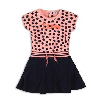DIRKJE Šaty C- SO FRESH WONDERFUL 62 Pink/Black-Navy
