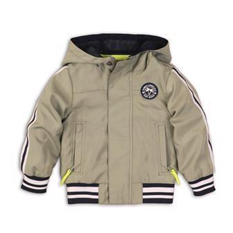 DIRKJE Bunda na zips s kapucňou C-SO TROPICAL TOUCAN DO IT 68 Green