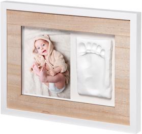 BABY ART Rámček na odtlačky a fotografiu Tiny Style Wooden