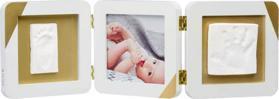 BABY ART Rámček na odtlačky a fotografiu Gold Dipped Frame Double White