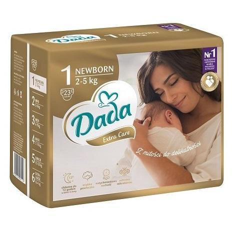 DADA Jednorázové plienky Extra Care veľ.  1 (2-5 kg), 23 ks