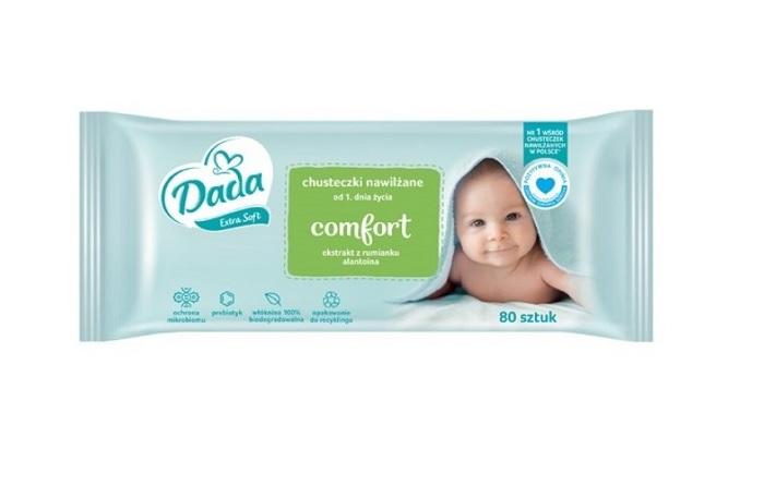 DADA Vlhčené obrúsky Extra Soft sensitive 80 ks