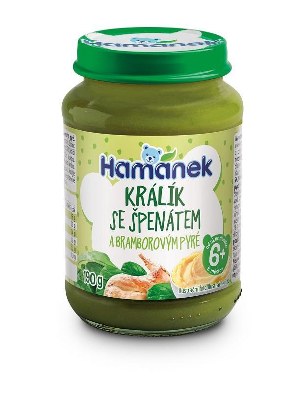 HAMÁNEK Zajac so špenátom a zemiakom 190 g