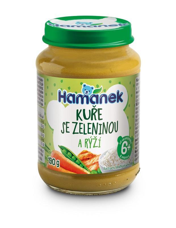 HAMÁNEK Kura so zeleninou a ryžou 190 g