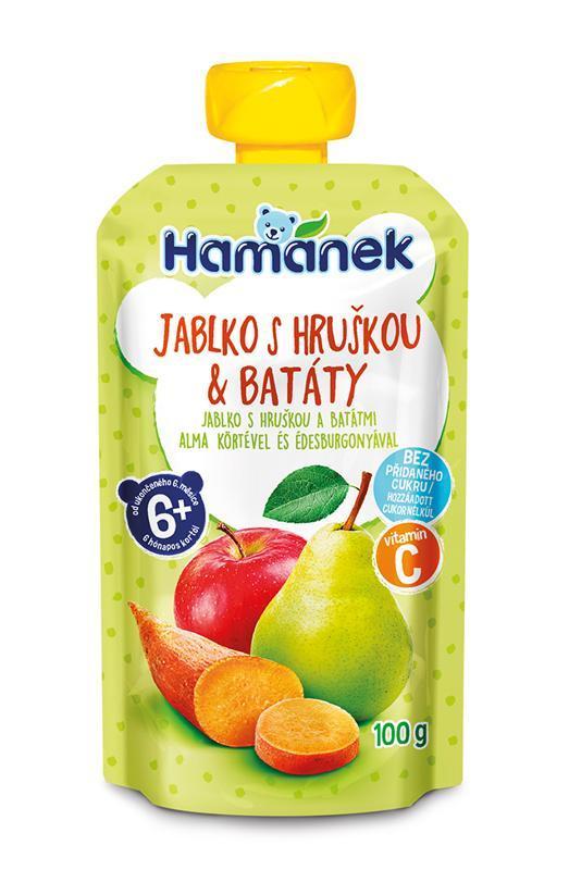 HAMÁNEK Kapsička Jablko, hruška, sladké zemiaky 100 g