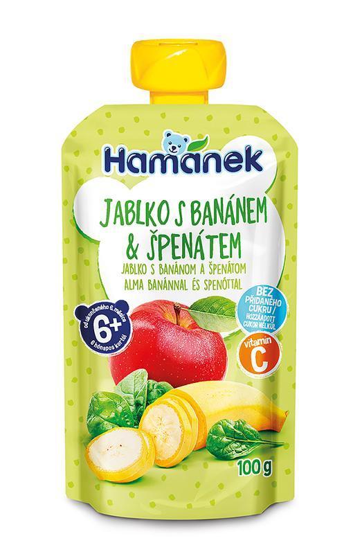 HAMÁNEK Kapsička Jablko, banán, špenát 100 g