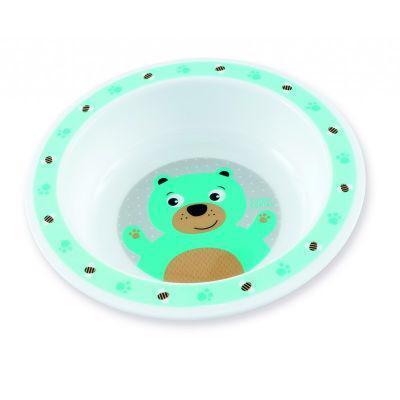CANPOL BABIES Miska plastová CUTE ANIMALS 270ml - medvedík