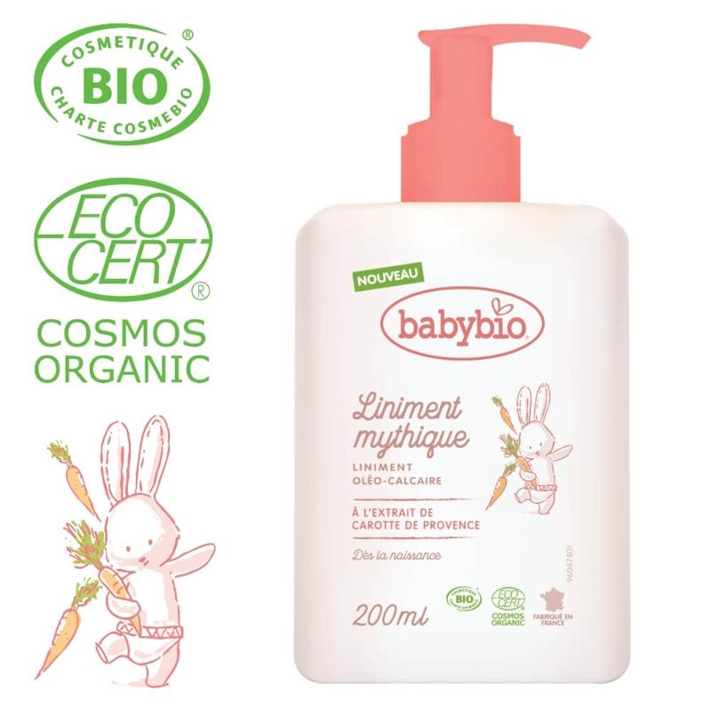 BABYBIO Prebaľovací BIO krém pre bábätká od narodenia 200 ml