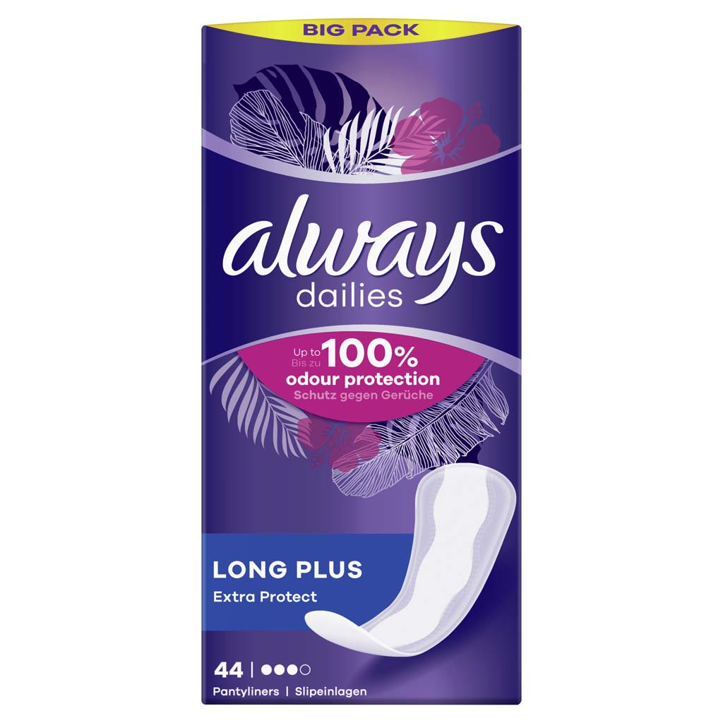 ALWAYS Dailies Long Plus Extra Protect Intímky 44 ks