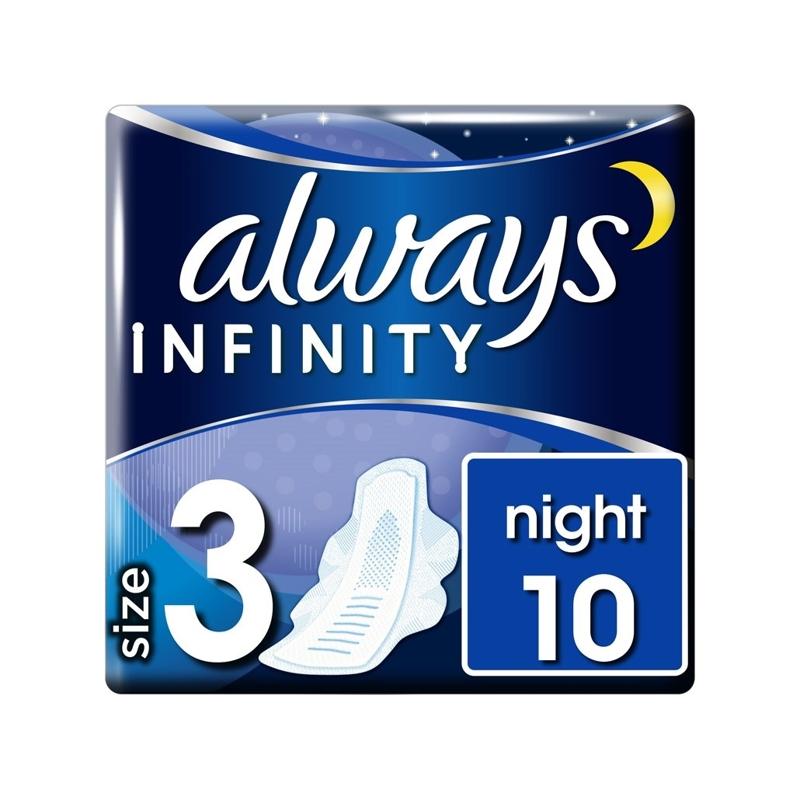 ALWAYS Infinity Night Vložky hygienické 10 ks