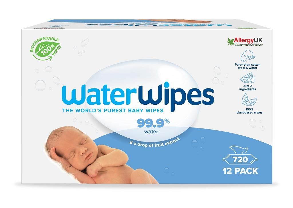12x WATERWIPES 100% BIO odbúrateľné obrúsky 60ks