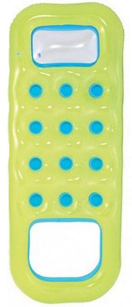 BESTWAY Matrac nafukovací s otvorom na nohy zelený, 185 x 74 cm