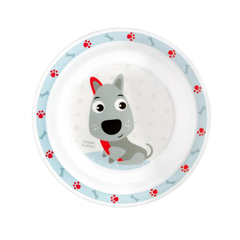 CANPOL BABIES Plastový tanierik CUTE ANIMALS - psík