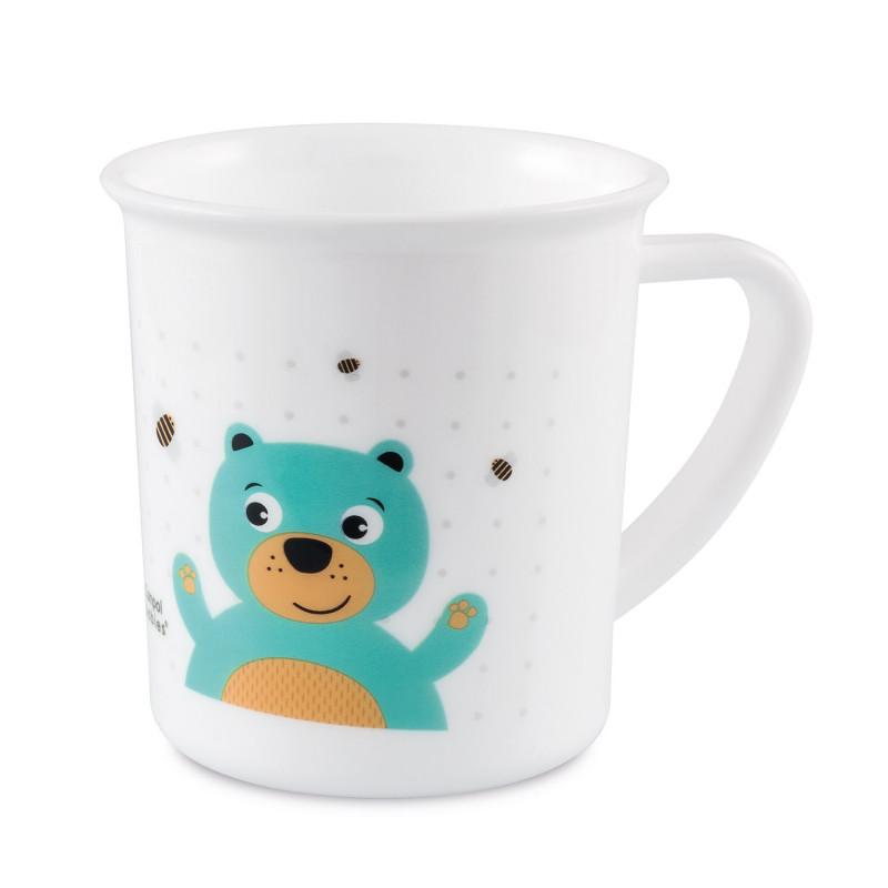 CANPOL BABIES Plastový hrnček CUTE ANIMALS - medvedík (170 ml)