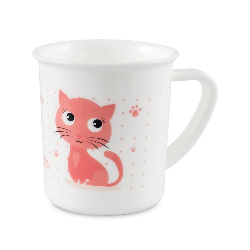 CANPOL BABIES Plastový hrnček CUTE ANIMALS - mačička (170 ml)
