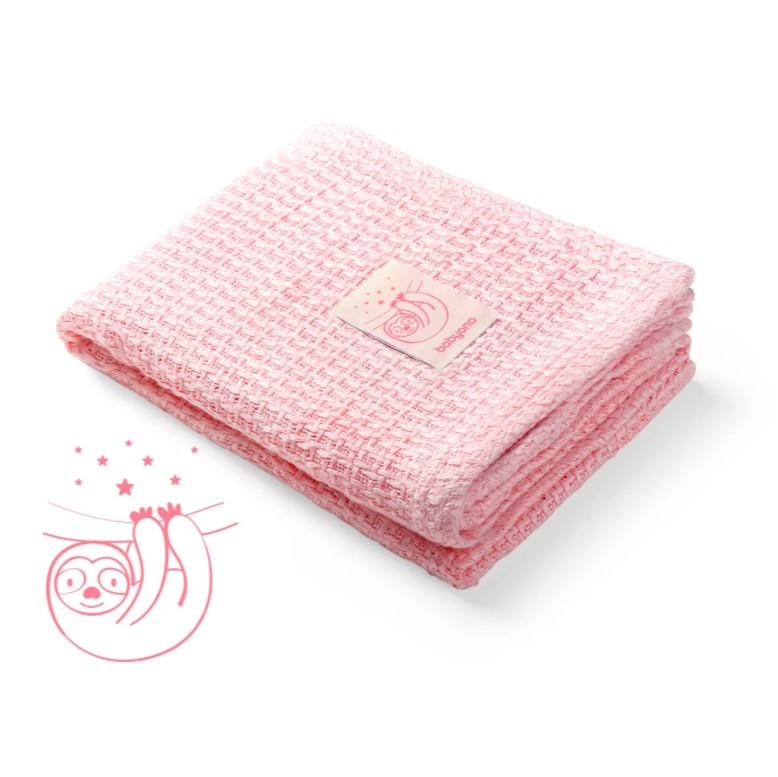 BABYONO Deka pletená bambusová Pink