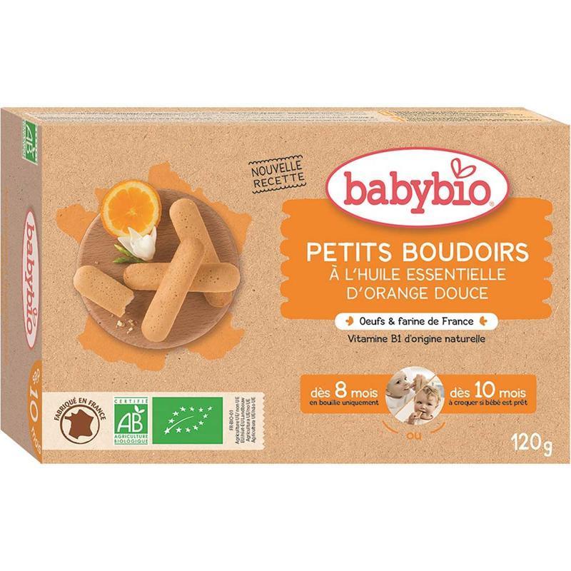 BABYBIO Piškóty s esenciálnym olejom sladkého pomaranča