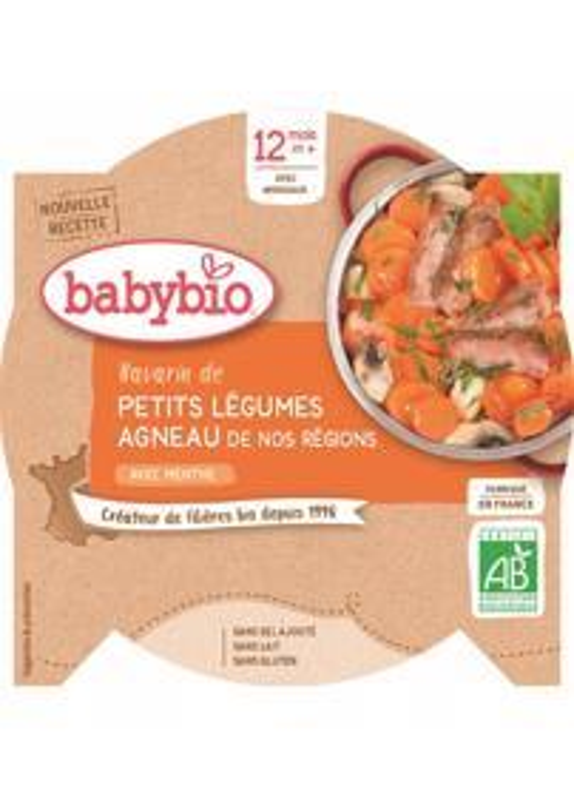 BABYBIO Menu dusená zelenina s jahňacím mäsom (230 g)