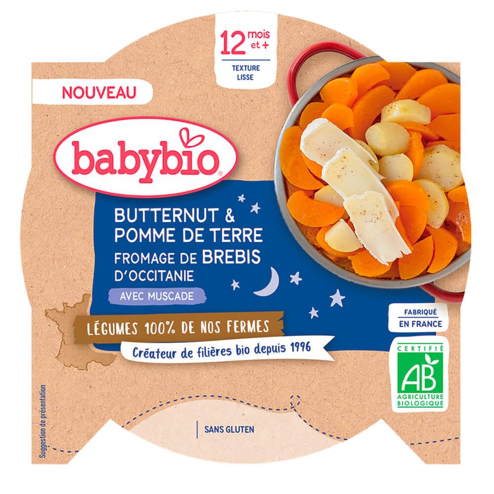 BABYBIO Zemiaky maslová tekvica ovčí syr 230 g