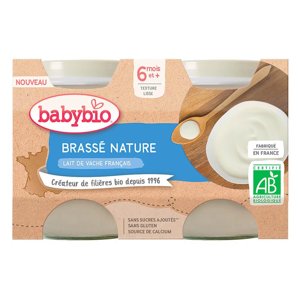 BABYBIO Brass z francúzskeho mlieka natur 2x130 g