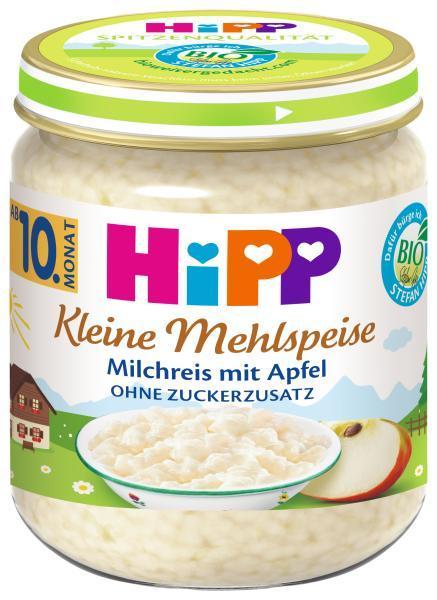 HiPP BIO Mliečna ryža s jablkami od uk. 9. mesiaca, 200 g