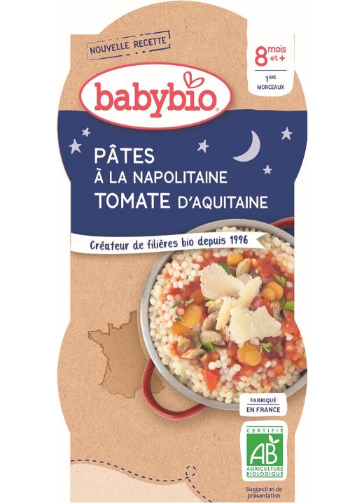 BABYBIO Večerné menu Neapolské cestoviny (2x 200 g)