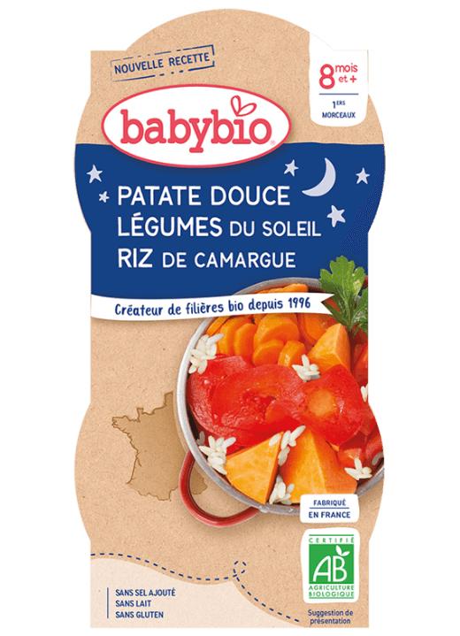 2x BABYBIO Večerné menu sladké zemiaky s letnou zeleninou (200 g)