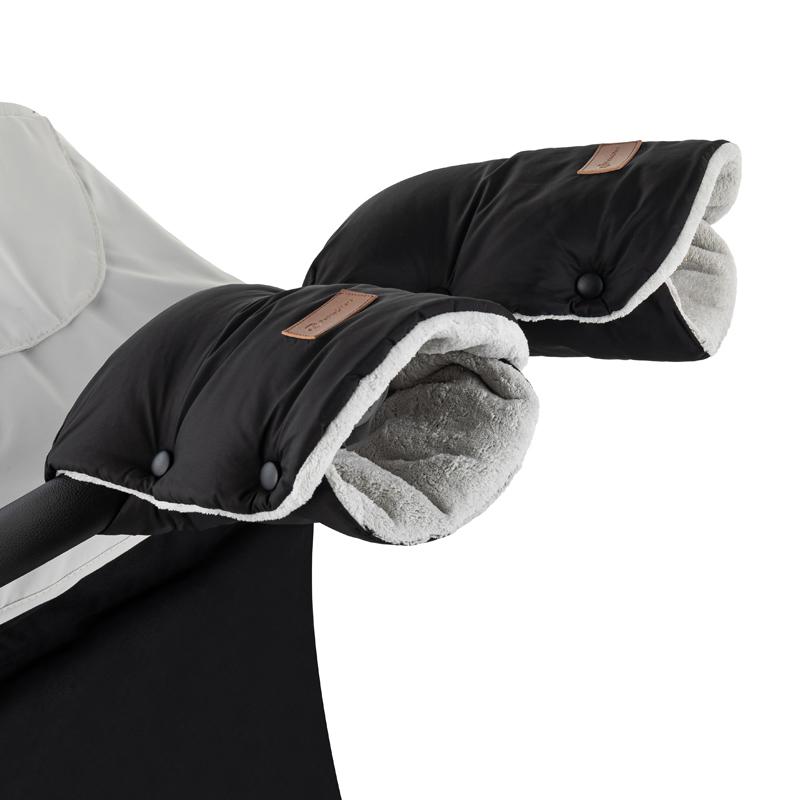 PETITE&MARS Rukávnik / rukavice Jasie na kočík Ink Black
